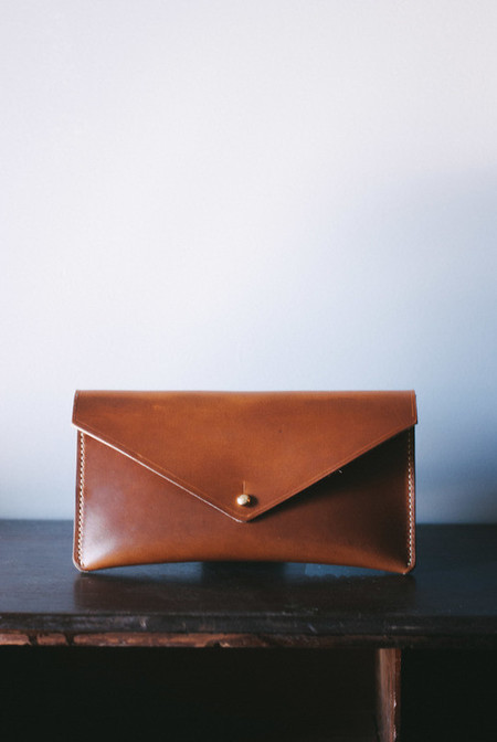 Peartree Leather Envelope Clutch