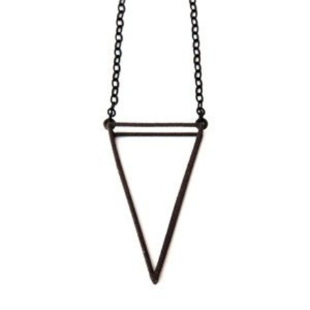 White Feather Designs 3D Triangle Matte Black Steel