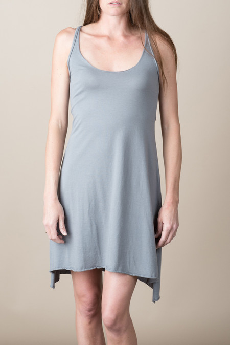 VRoom Modal Jersey Tank Dress In Charcoal