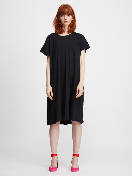 revisited Rib T-Shirt Dress - Black