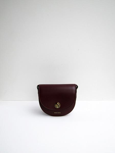 Mansur Gavriel Mini Saddle Bag - Burgundy