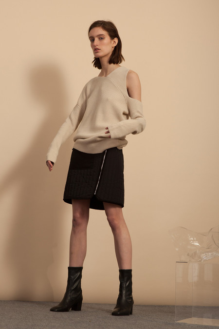 Nomia Asymmetrical Sweater - Ecru