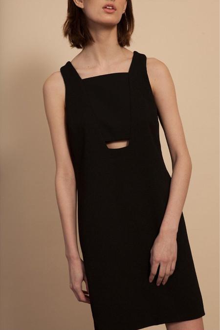 Nomia Cut-Out Shift Dress - Black