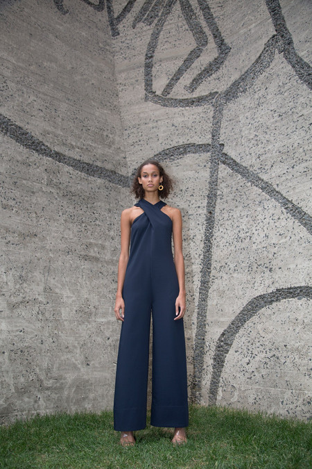 Nomia Overlay Jumpsuit - Midnight