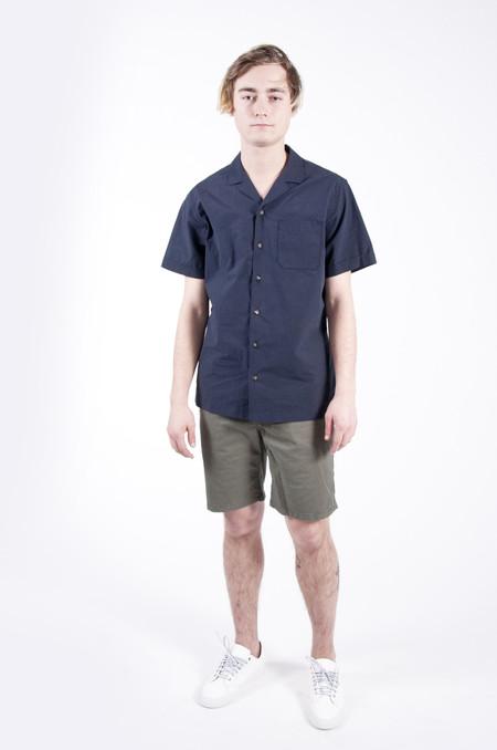 Wings + Horns Short Sleeve Deck Shirt Navy