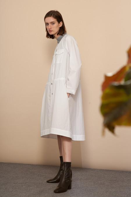 Nomia Snap Front Dress - White