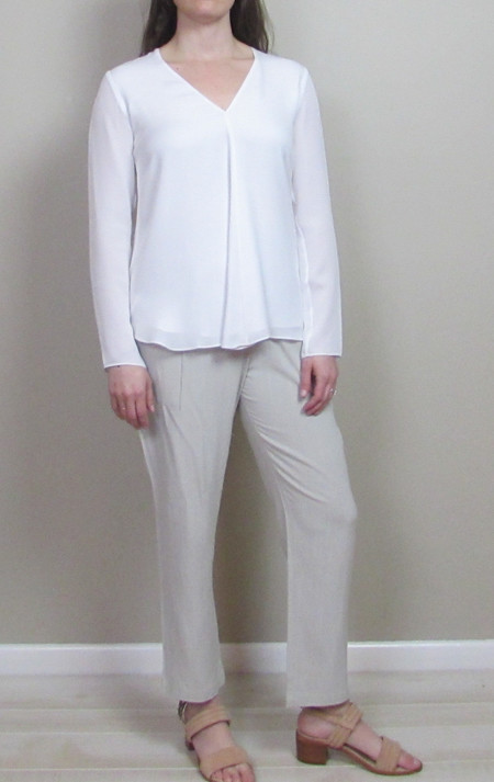 Heather Silk Double Layer Top