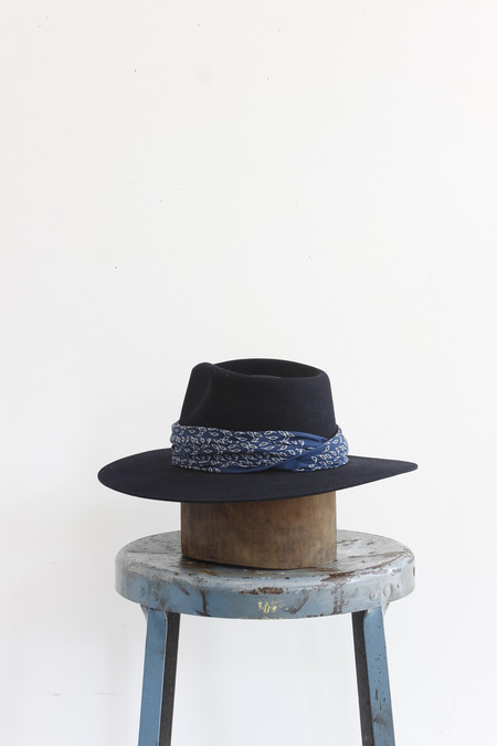 Janessa Leone Florence Hat in Navy