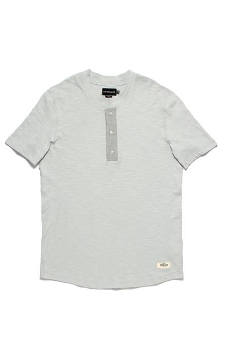 Outclass Slub Knit Henley  Cool Grey