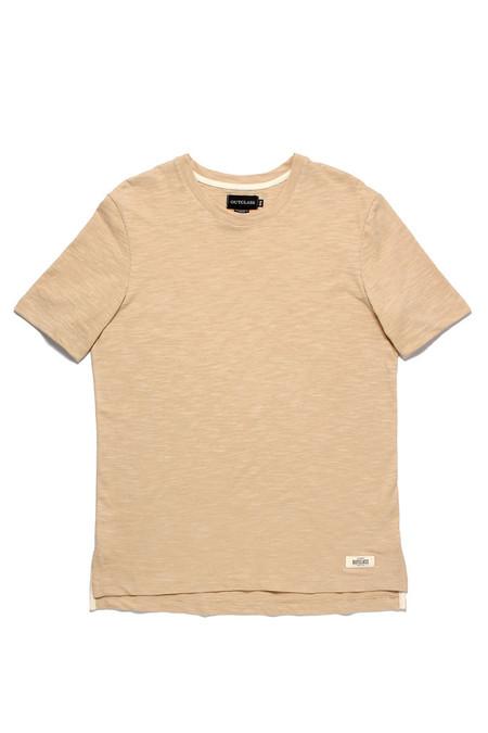 Outclass Slub Knit T-Shirt  Sand