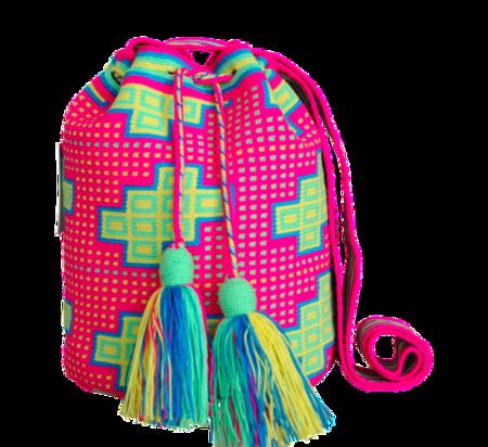 Shop Mariya Neon Pink + Yellow Mochila - M