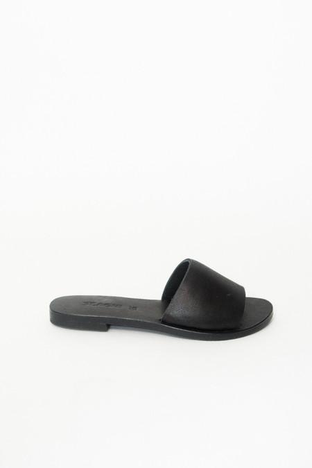 St. Agni Aiko Basic Slides - Black Leather