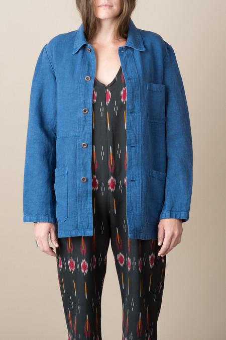 Vetra Woven Jacket In Indigo