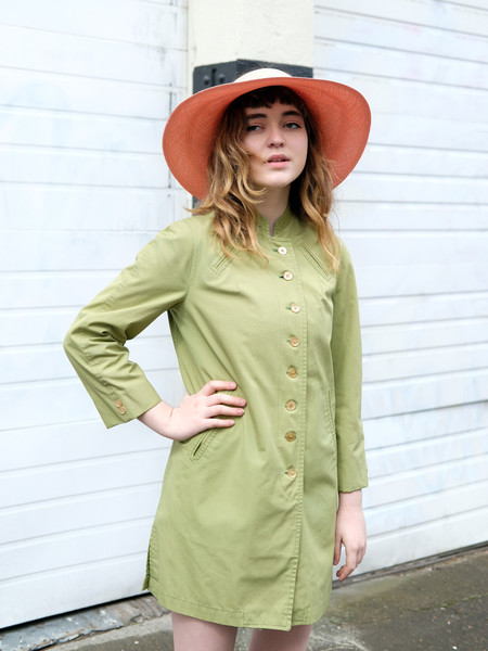 Shop Boswell VINTAGE GREEN RAINCOAT