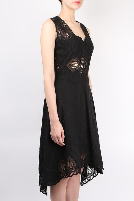 Jonathan Simkhai Crochet Embroidered Dress - Black