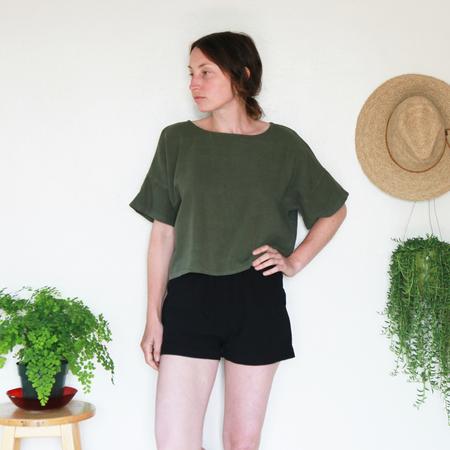 Me & Arrow Drop Shoulder Tee - Army Green