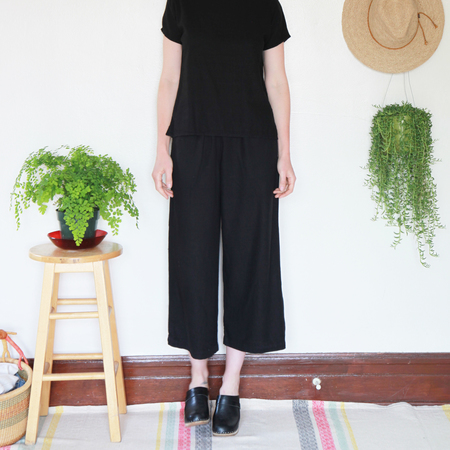 Me & Arrow Wide Pants - Black