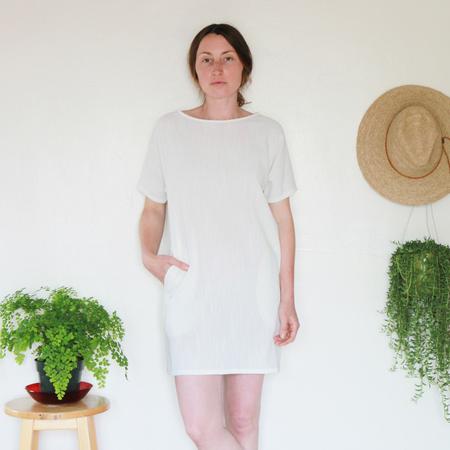Me & Arrow Sleeve Dress - Ivory Cotton