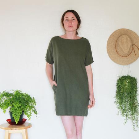 Me & Arrow Sleeve Dress - Army Green