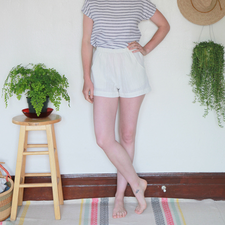 Me & Arrow Shorts - Ivory  Cotton