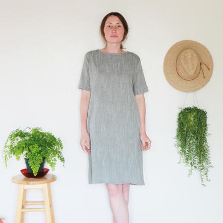 Me & Arrow Tall Dress - Olive Cotton