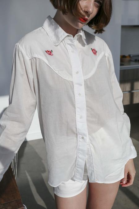 Vivien Ramsay Rodeo Cowboy Shirt in Rosebud
