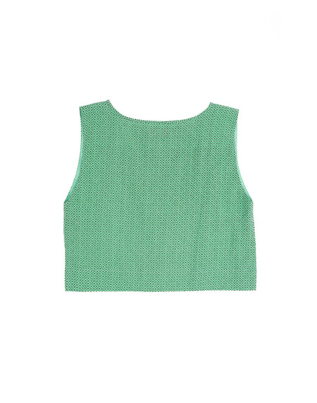 Ilana Kohn Kate Crop, Green Grid