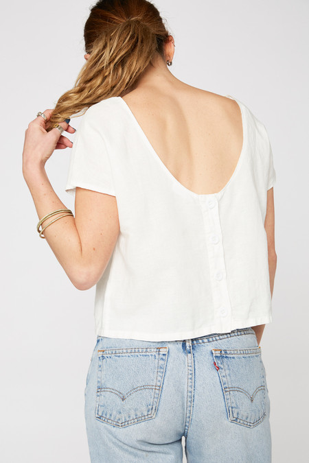 Lacausa Clothing Reversible Linen Top