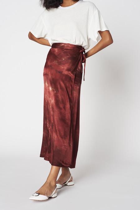 Lacausa Clothing Satin Wrap Skirt