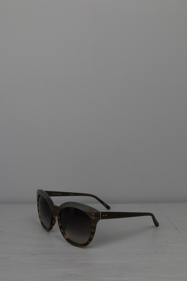 Linda Farrow Round Cat Eye Sunglasses