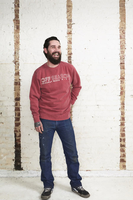 OffSeasonNYC Crew Neck Sweatshirt Red