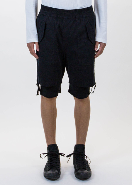 Helmut Lang Black Double Layered Shorts