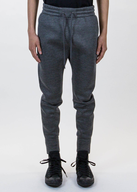 Helmut Lang Dark Charcoal Curved Leg Track Pant