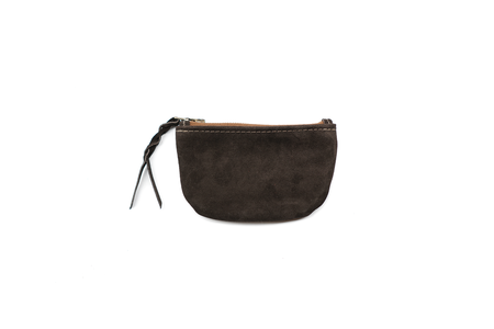 MAPLE ZIP POUCH (SUEDE) - BROWN