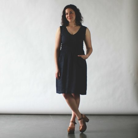 modaspia Fiji Dress - Navy Linen