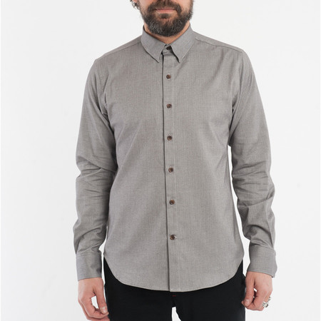 18 Waits The Dylan Shirt - Grey Herringbone Flannel