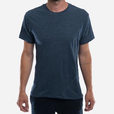 18 Waits The Signature T-Shirt - Navy Melange Slub Jersey