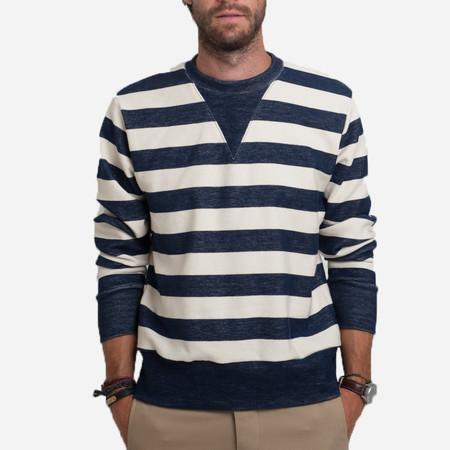 18 Waits The Sunset Sweater - Navy/Cream Stripe