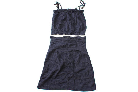 Pietsie Patmos Top and Skirt - Navy Check