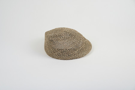 Clyde Net Beret in Natural Seagrass