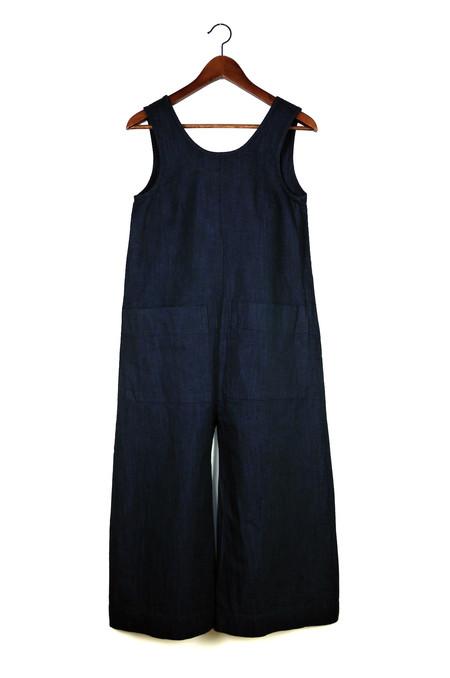 Ilana Kohn Milo Jumpsuit, Deep Indigo, Cotton Linen