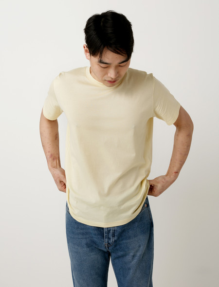 Margaret Howell T-Shirt Egyptian Cotton Pale Yellow