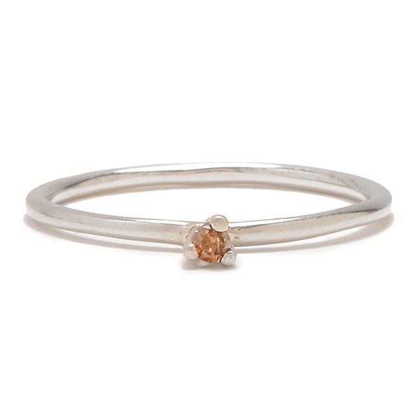 Tarin Thomas Taylor Silver and Cognac Diamond Ring
