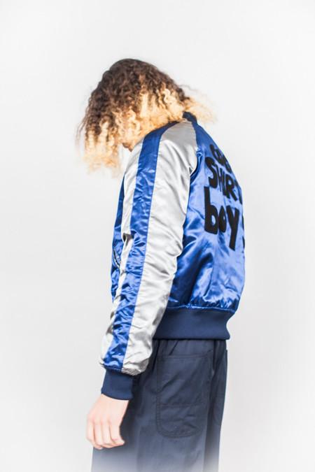 Comme Des Garçons SHIRT boys Souvenir Jacket Blue/Grey/Black