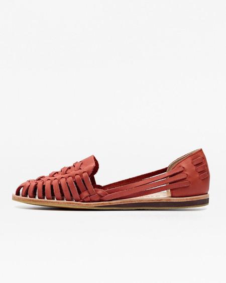 Nisolo Ecuador Huarache Sandal Scarlet 5 for 5