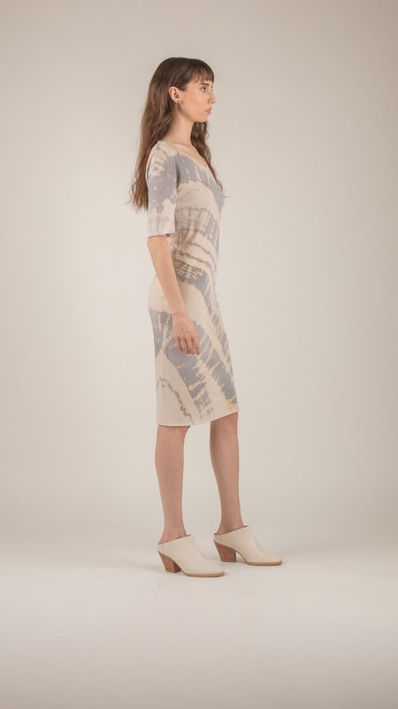 Raquel Allegra - Fossil Grey Fitted Dress