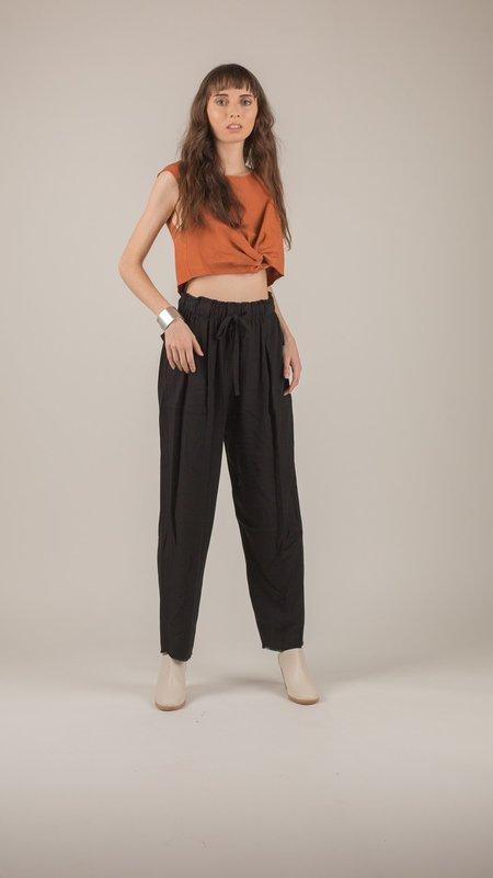 Raquel Allegra - Black Drawstring Pants