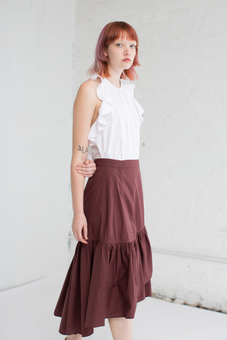 Ulla Johnson Camilla Skirt in Raisin
