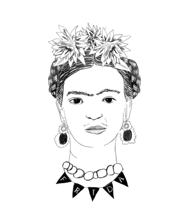 Deer Dana Frida Kahlo Tee