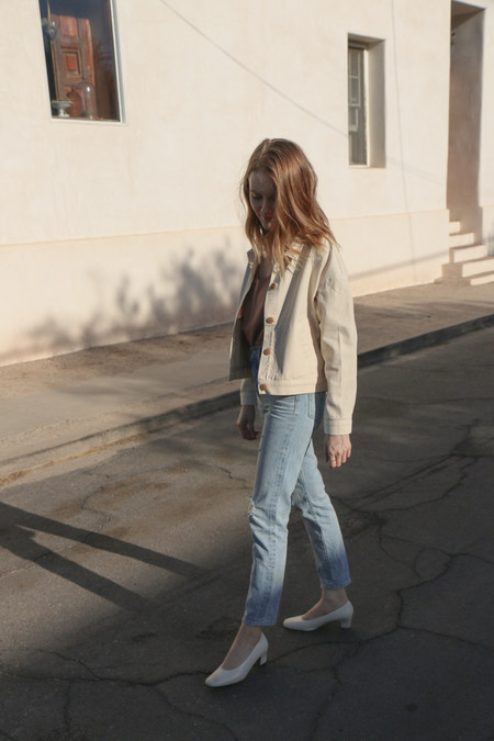 Esby Delilah Canvas Jacket in Natural